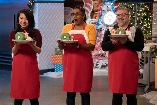Lisa Chambers, center, won the Dr. Seuss themed episode of Nailed It!