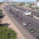 A crash involving a semitruck caused a massive traffic backup on Interstate 10 in Tempe and Chandler on Dec. 11, 2019.