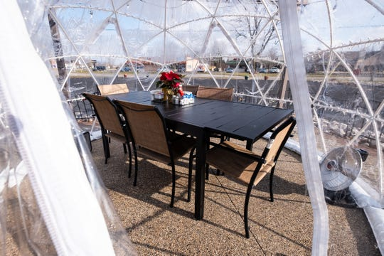 Four Star Grille has five igloos available for guests to reserve, as well as a sixth one available to be used as a lounge. The igloos are expected to remain available until April, pending weather.
