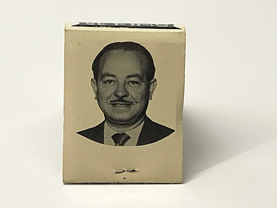The back side of a custom-made matchbook cover for Mr. Gregory's Hair Styling, from Mike Eidel's collection.