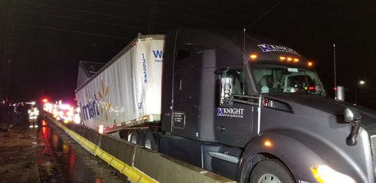 A Walmart tractor-trailer was involved in two incidents within a four-hour time period Tuesday in Southern York County that snarled traffic for 16 hours.