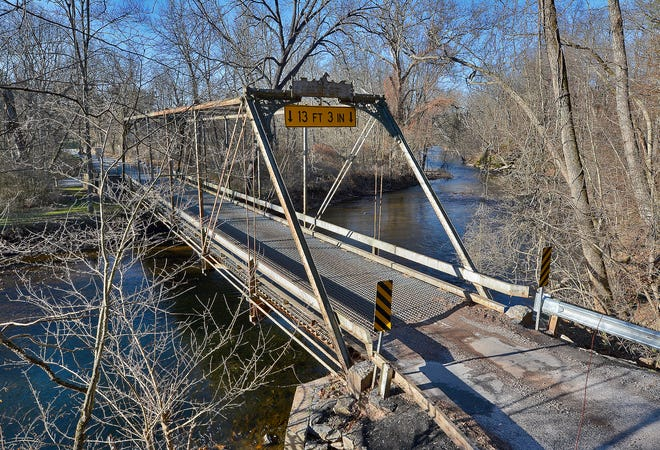 A group of residents in the area of Sheepford Road in Cumberland County are working to save a bridge spanning the Yellow Breeches Creek that was built in the late 1800's.  Wednesday, December 11, 2019.John A. Pavoncello photo