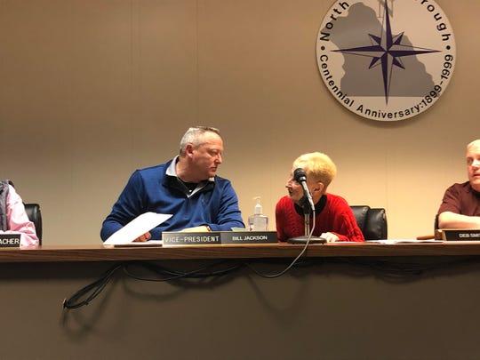 Bill Jackson at a North York Borough Council meeting.
