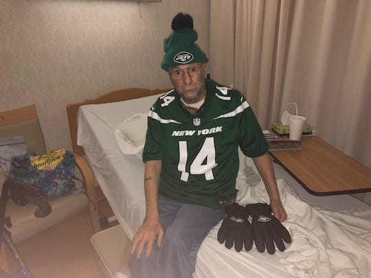 A York resident and hospice patient, Jack Snyder has been a New York Jets fan most of his life.