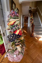 """""""Oh Beautiful..."""" is a tree decorated by Deb Eberly in the foyer of the Goodridge House."""