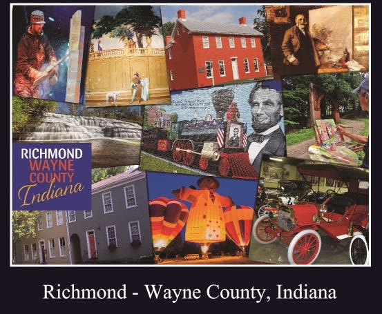 The fourth Wayne County-themed jigsaw puzzle is now on sale at the Old National Road Welcome Center.