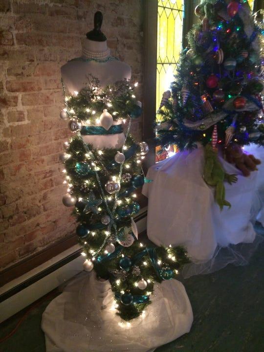 Jonathan Hampton created a mermaid Christmas tree as part of 'Tis the Season display inside St. Paul's Episcopal Church.