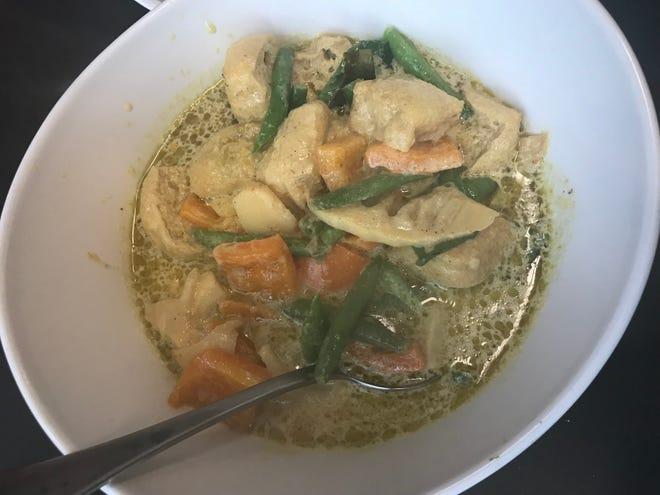 Green curry at Thai Yada.