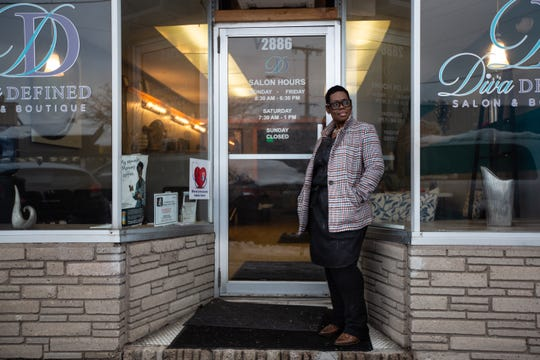 Cassandra McCrea, owner of Diva Defined Salon & Boutique at 2886 Dewey Ave. in Rochester, is one of several stylists in the area who is a community health educator. She works with Common Ground Health and Trillium Health to check her clients' blood pressures and have more general conversations about their health and healthcare.