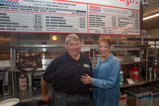 Co-owners Rich and Nancy Giddens at their new Nancy Jo's Burgers location on Market Street in Northeast Salem on Dec. 11.