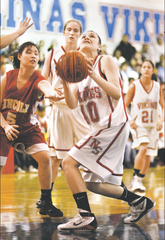 Sara Makanani looks to shoot in the opening round of the 2010 NorCal playoffs.