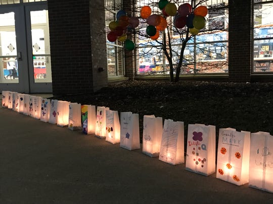 Memorial luminaries at Shoot for a Cure: Coaches vs. Cancer Day.