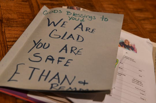 Classmates and friends have written notes to Ethan Haus after he was found safe after going missing for 10 hours.