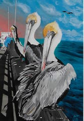 Art by Monica Rios will be part of the Just One More show downtown.