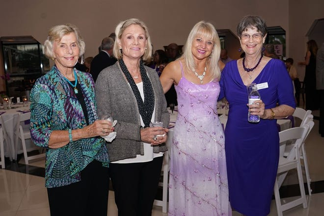 Patricia Stewart, left, Diane Greenawalt, Michelle Akins and Joan Smith attend SafeSpace's 40th Birthday Bash at Treasure Coast Lexus in Fort Pierce.
