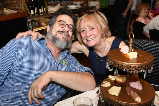 Charlie and Sharon Morgenstein at the grand opening of O's Café @ The Elliott Museum on Hutchinson Island.
