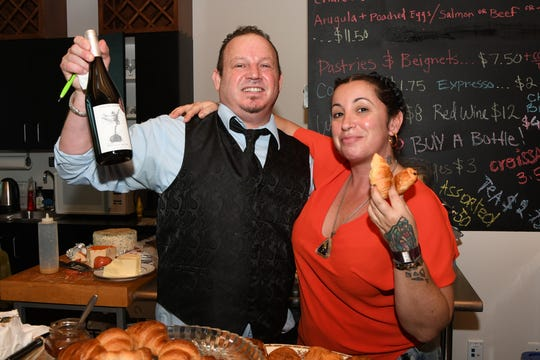 Maitre d' Aron Underwood and Chef Olivia Binn-Ostrow at the grand opening of O's Café @ The Elliott Museum on Hutchinson Island.