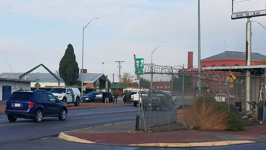 U.S. Border Patrol agents apprehended human smuggling suspects Tuesday after a car chase ended at on Paisano Drive near Overland Avenue in Downtown.