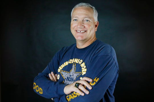 All-City Cross country Coach of Year Mike McLain, Eastwood, Wednesday, Dec. 11, at the El Paso Times newsroom in El Paso.