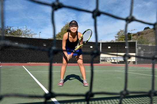 Samantha Noh was a four-time All-Marmonte League first-team selection and finished her Westlake High career with a 71-7 singles record.