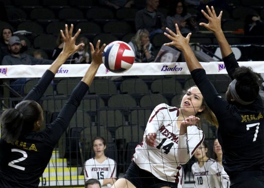 Freshman Lexi Malone, a Foothill Tech High graduate, led the NAIA national finalist Westmont College women's volleyball team with 160 blocks as a freshman.