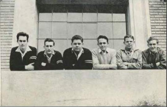 Left to right: Walter Permenter, Don Wachob, Charles Wakefield, Roger Nabers, Don Kohler, and Vernon Cline.