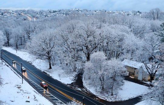 Snow blankets Yonkers on Dec. 11, 2019.