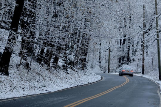 Snow clung to trees on Sleepy Hollow Road in Sleepy Hollow on Dec. 11, 2019 after overnight snow delayed some schools and slowed the morning commute.