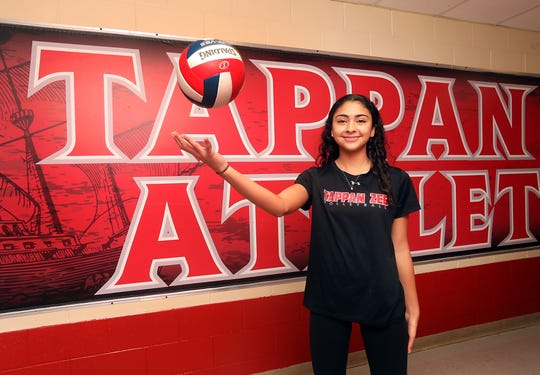 Tappan Zee's Samantha Rivera, who is Rockland County Volleyball Player of the Year was photographed at the High School Dec. 11, 2019.