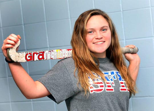 Suffern's Grace Krebs, who is Rockland County Field Hockey Player of the Year was photographed at the High School Dec. 11, 2019.