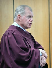 Retired 78th District Court Judge Barney Fudge, shown in this Dec. 11, 2019, file photo, returned to preside over a sexual assault trial.