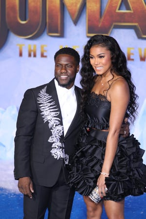Kevin Hart posed with wife Eniko Parrish.