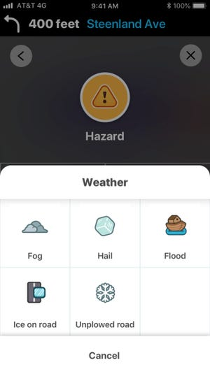 Waze will alert drivers about roads that still need plowing.