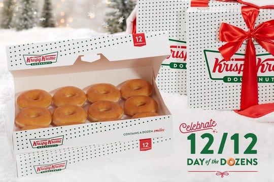Krispy Kreme Doughnuts' Day of the Dozens is Dec. 12.
