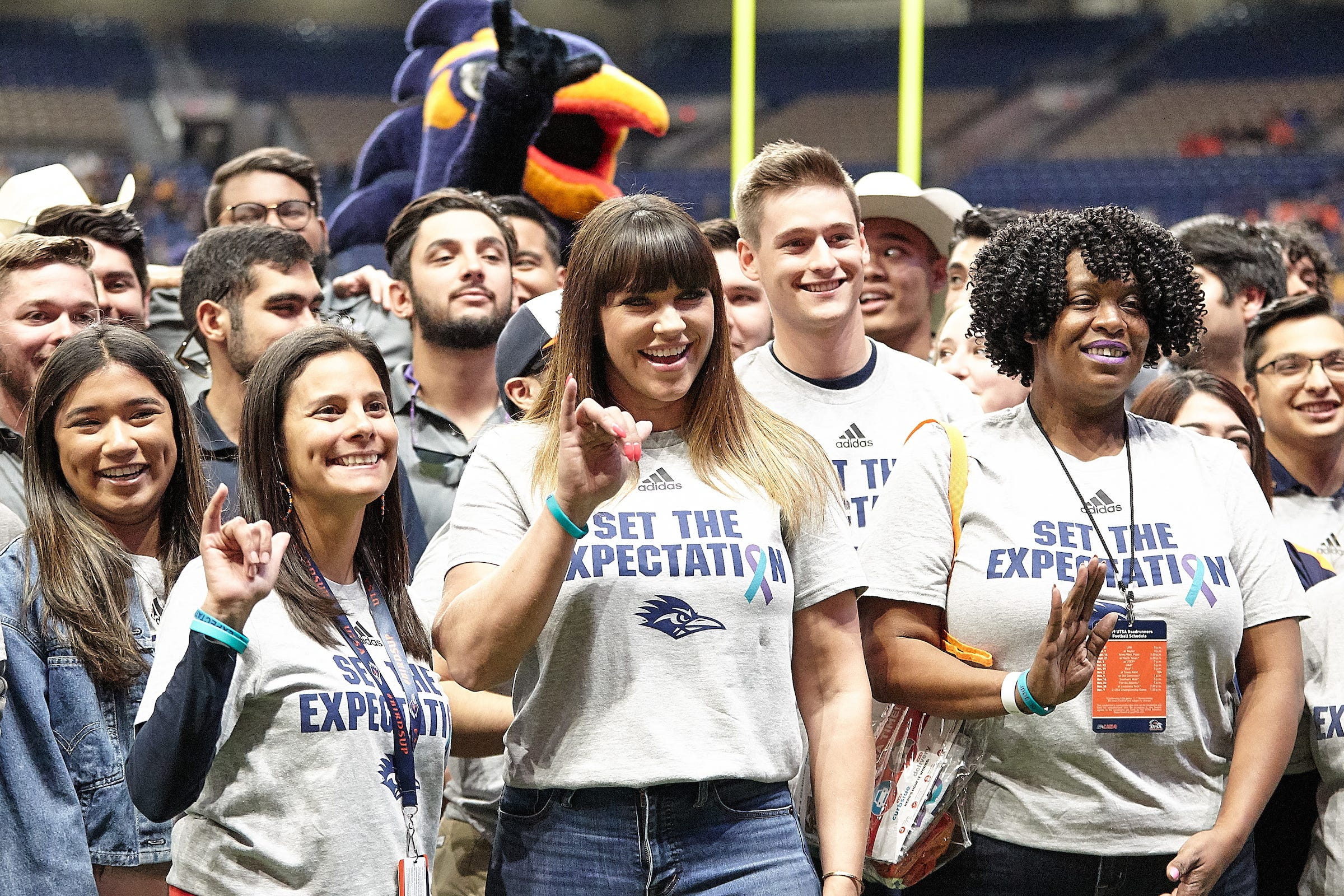 Brenda Tracy at the Alamodome where the University of Texas at San Antonio Roadrunners took on the University of Southern Mississippi Golden Eagles on Nov. 16, 2019.