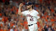 Gerrit Cole was 20-5 with the Astros last season.