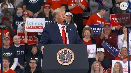 President Trump blasts 'crooked' Schiff as he mocks impeachment during Pennsylvania rally