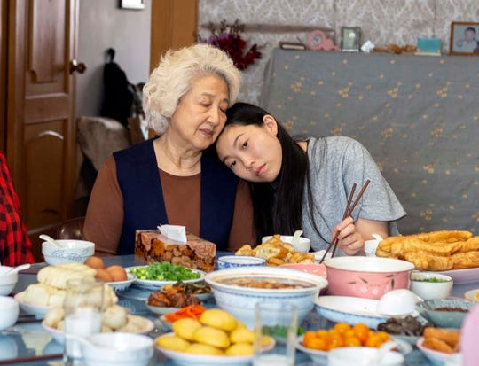 "Zhao Shuzhen, left, and Awkwafina star in Lulu Wang's ""The Farewell."""