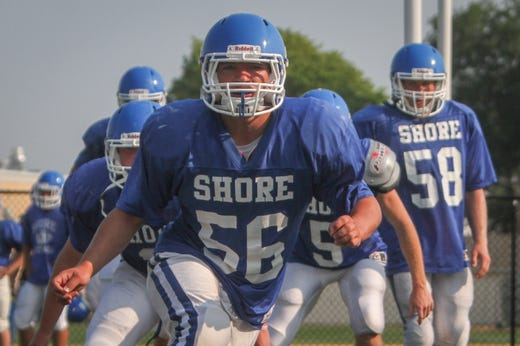 Shore Regional's Doug Goldsmith during drills at a 2015 practice in West Long Branch.