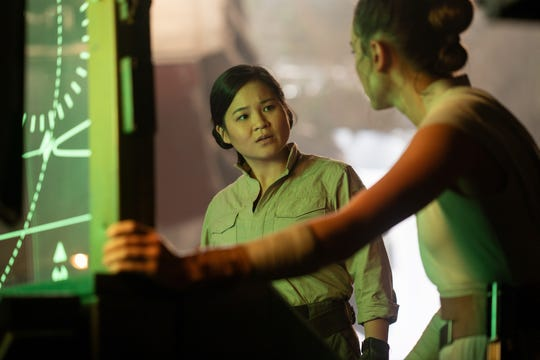 """Kelly Marie Tran is Rose and Daisy Ridley is Rey in """"Star Wars: The Rise of Skywalker."""""""