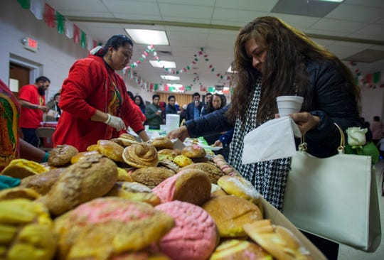 Lakewood community members donated baked goods, like pan dulce (sweet bread), to be offered to the people who gathered to celebrate the Brown Virgin.