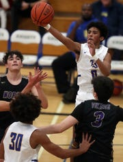 Bremerton's Joseph Wilson and the Knights take on North Kitsap on Friday. The Vikings beat Bremerton 86-51 in the team's first matchup Dec. 11.