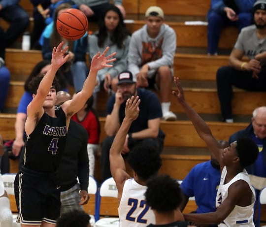 North Kitsap's Jonas La Tour is averaging 19 points per game for the Vikings. He scored a season-high 26 points against Bremerton on Dec. 11, connecting on six 3-pointers.