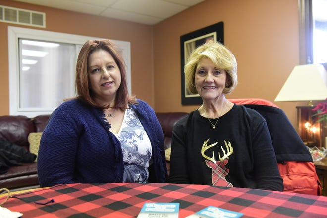 Nicole Bentz, left, and Donna Goddard are eager to help the developmentally delayed through House of Pieces in Galion.