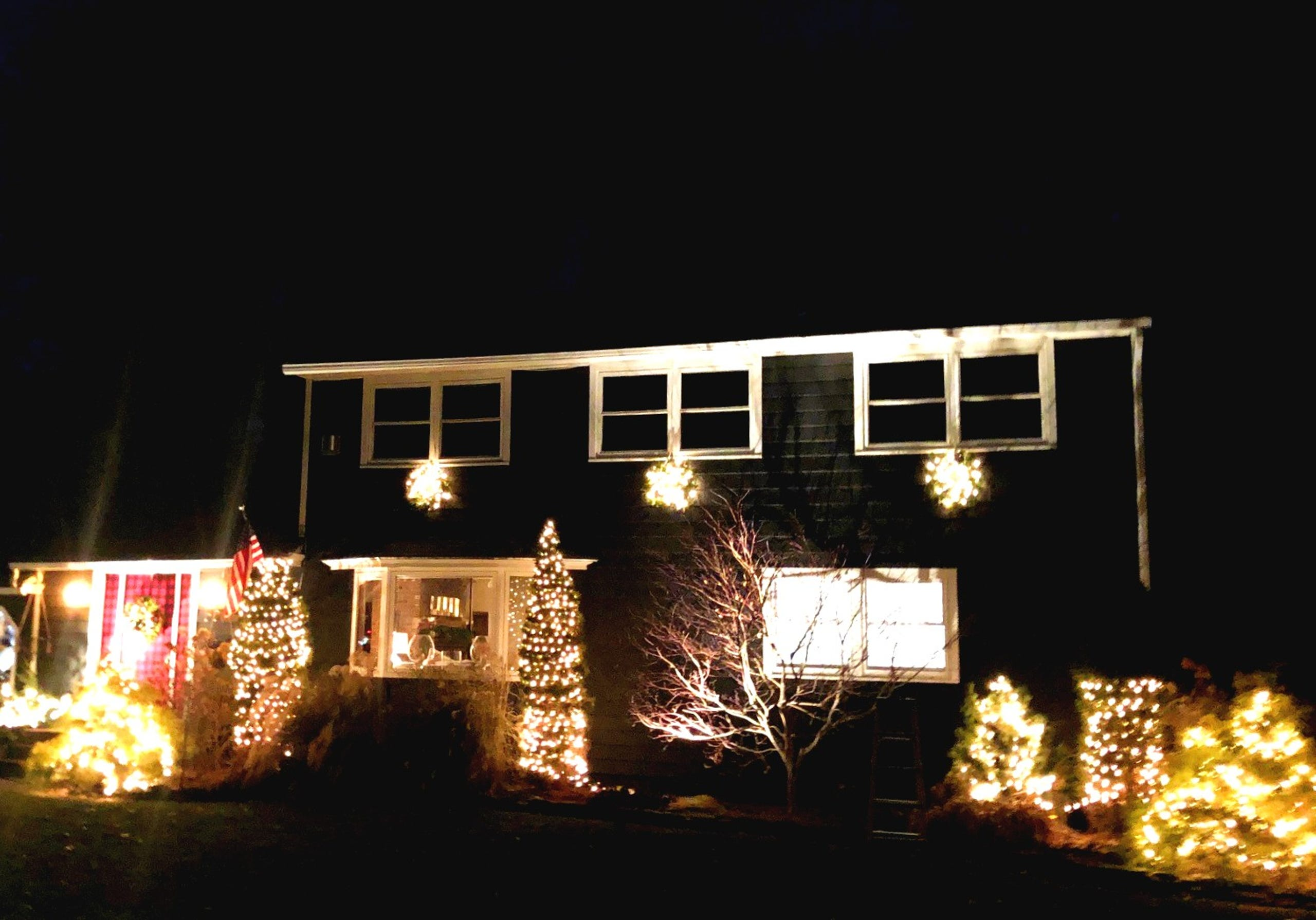 A house in South Burlington is decked out for the holidays on Wednesday, Dec. 12, 2019.
