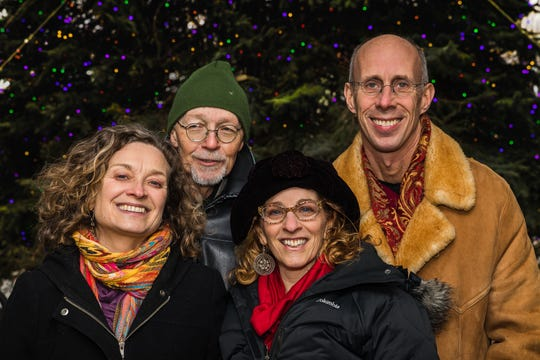 "Patti Casey, Pete Sutherland, Kathryn Blume and Mark Nash bring ""Stories for a Winter's Eve"" to East Montpelier on Dec. 21."