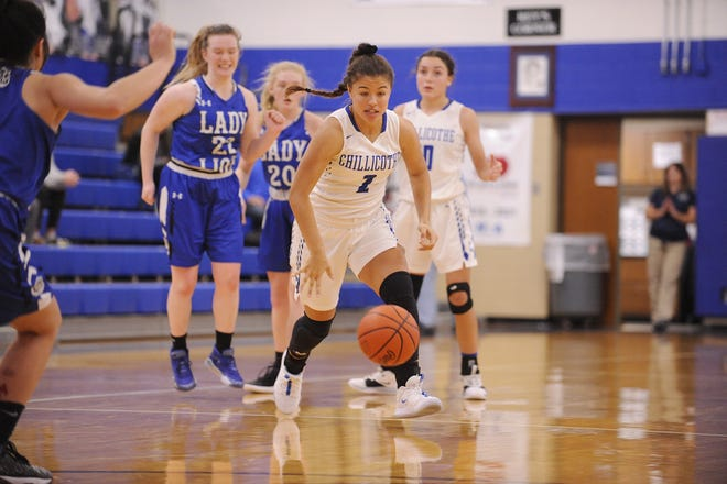 Chillicothe's Zoe Ford dribbles the ball in a 54-47 win over Washington on Wednesday Dec. 11, 2019 at Chillicothe High School in Chillicothe, Ohio. The Cavs lost to North Adams on Monday.