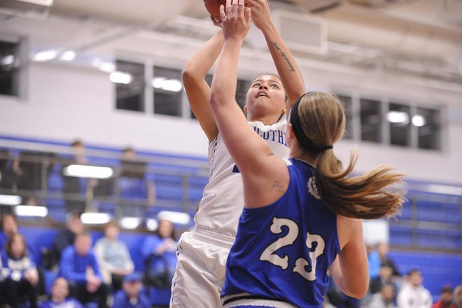 Chillicothe's Shawnice Smith goes up for a layup during a 54-47 win over Washington on Wednesday Dec. 11, 2019 at Chillicothe High School in Chillicothe, Ohio.