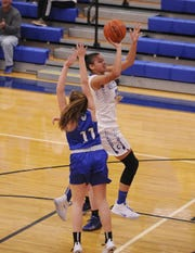 Chillicothe's Shawnice Smith goes up for a shot during a 54-47 win over Washington on Wednesday Dec. 11, 2019 at Chillicothe High School in Chillicothe, Ohio. Chillicothe lost to Dublin Scioto on Wednesday.