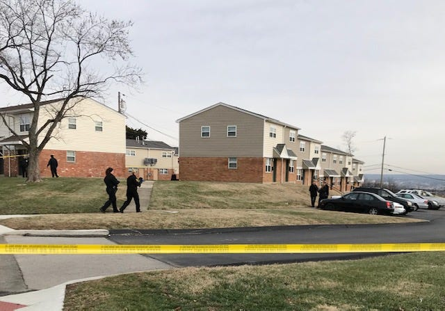 Cincinnati police investigate a shooting on Dec. 12 at the Villages of Roll Hill.